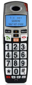Picture of the Serene Innovations CL-60AHS Portable Handset