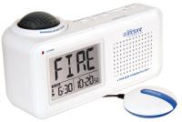 Lifetone HLAC151 Bedside Fire Alarm & Clock