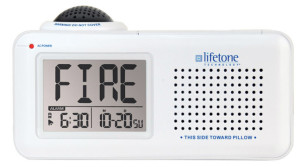 Picture of Lifetone HLAC151 Bedside Fire Alarm—front