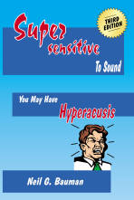 "Picture of front cover of the book, ""Supersensitive to Sound"""