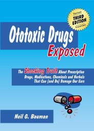"Picture of front cover of the book, ""Ototoxic Drugs Exposed"""