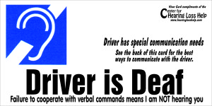 picture of Deaf Visor Card—front
