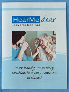 Picture of HearMe Dear Conversation Tube Instructions