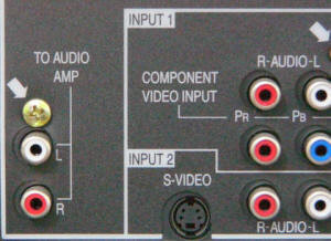 Picture of TV audio jacks