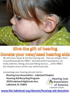 Lakeland HLAA flyer