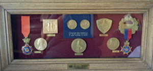 Framed set of Medals